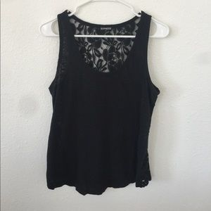 Express black lace tank
